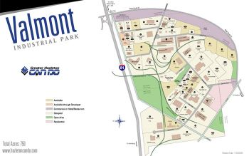 Map of Valmont Industrial Park.